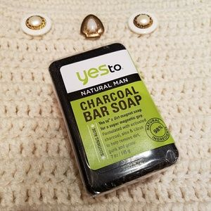 🌻3 FOR $15 - Yes to Natural Man Charcoal Bar Soap